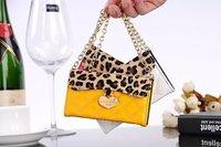 High Quality Luxury Wallet Handbag Leather case for iPhone 4G/ 4S, Handbag Leopard Petit sac Etui housse cuir for iPhone 4/ 4S