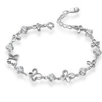 AAA 100% Sterling Silver 925 Jewelry Butterfly Bracelet Amethyst Bracelet Fine Jewelry Top Quality!! Free Shipping