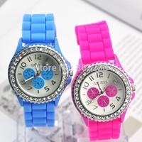 women dress watch Dress Watches Geneva Watch,  Casual Analog Quartz Ladies Rhinestone Wristwatch