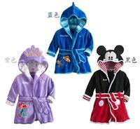 2014  children cartoon  sleepwear bathrobe  Girls boys bathrobe  kids hoodie child  nightgown  T130  retail  free shipping