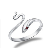 Silver 925 Sterling Silver Jewelry Silver Snake Ring Lovely Birthday Present Top Quality! Free Shipping