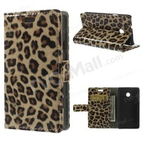 Free shipping 1pc/tvc-mall Fashion Leopard Glossy Leather Stand Case w/ Card Slots for Huawei Ascend Y330