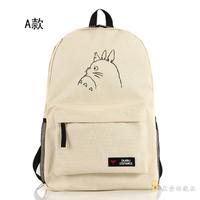 Cute Totoro Backpack Anime Fashion Male Female Miyazaki Hayao Nylon Student School Bag