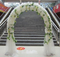 Wedding wedding arch props spend circular arch door silk flower arch/finished flower happiness door/door open arch