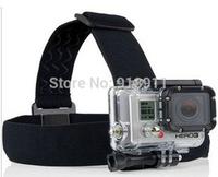 Free shipping UUD headband Helmet Head Strap Belt Mount Camera Fixed Headband Size Adjustable Anti-Skid For Gopro Hero HD 2 3