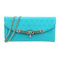 2014 chains small sachet shoulder bag women's plaid cross-body handbag sweet day clutch