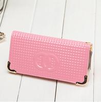 2014 wallet female zipper wallet day clutch lizard glossy female wallet day clutch