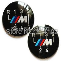 10pcs 5-Speed 6- Speed  M-tech M3 Gear Knob Insert Mtech Sticker Emblem Badges