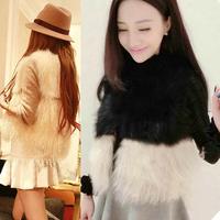 Winter&Black/White Faux Fur Vest Fur For Ladies Vest Outwear Free shipping & Drop shipping