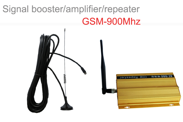 Mini GSM 900Mhz Mobile Phone Signal Booster , GSM Signal Repeater , Cell Phone Amplifier With Cable + Antenna(China (Mainland))