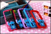 2014 new Cute Stitch Cartoon Soft Silicone Rubber Bumper Frame Case For Iphone  5 5s Bumper
