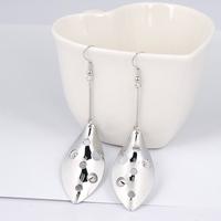 Min.order is $15 (mix order)  Rhodium Plated Big Leaf Design Earring YJ07777DE
