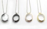 30mm Round magnetic glass floating charm locket Zinc Alloy Pendants Necklace