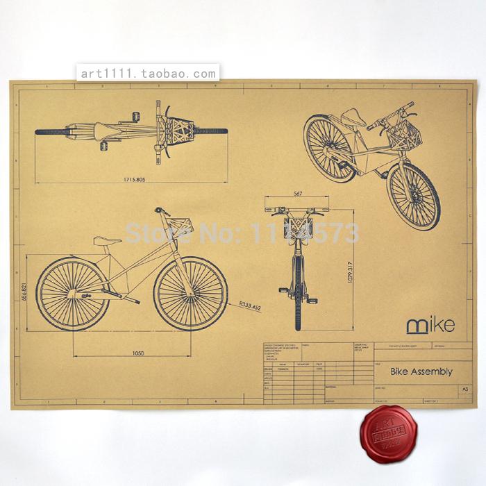 Online kopen wholesale fiets tekeningen uit china fiets tekeningen groothandel - Koffiebar decoratie ...