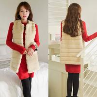 Fur Coat Of Fur Waistcoat New Cool Fashion Slim Hot Faux Fur Winter Warm For Women OuterWear Free shipping & Drop shipping