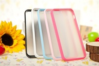 Free shipping Via HK Normal Post Candy color Scrub clear back case cover for iphone 5 cell phone cases covers to i5
