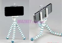 Mini 16CM Digital Camera Stand Flexible Leg Tripod Grip Octopus Bubble Pod Monopod Mobile Phone Holder Clip +Bracket *300set/lot