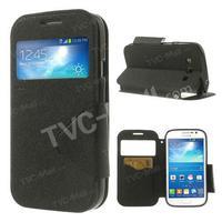 Black Roar Korea Diary View Window PU Leather Flip Cover Case For Samsung Galaxy Grand Neo I9062 I9060 I9082 I9080 Free Shipping
