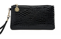 New fashion stone, crocodile texture, portable bag, women hand bag wrist bags, zipper purse, clutch purse