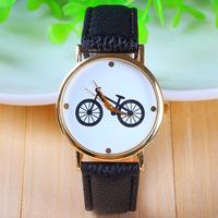 AW-SB-911 New Fashion leather strap watches Geneva Watches Bike Pattern Women Dress Watches