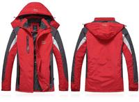 M-2XL New 2014 Men's Winter Plus Thick Outdoor Waterproof  Wind Proof Cotton Fleece  Hoody Trench Coat 7770b , Free Shipping
