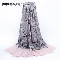 Ordibugati quality elegant cashmere 2014 autumn and winter thermal scarf female