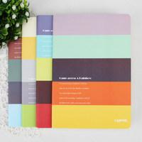 New Lenwa Notebook A5 Met Rainbow Series Diary Book Notebook Notepad Korea School Supplies Stationery Cute