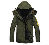 High Quality Men's Outdoor 2in1 Outdoor Ski Jacket Windbreaker Jacket