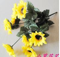 Silk Artificial Sunflowers Decorative Flowers Home Decor Wedding Derocation, 10pcs/lot  MA1494