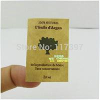customized kraft paper stickers/ brown paper stickers/garment tag colorful stickers/kraft stickers 1000pcs/lot
