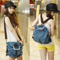 2014 women backpack men's travel bags women's messenger bag canvas bag student school cute backpack