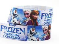 "2014 New Frozen ribbons 1"" (25mm) Grosgrain printed ribbon Princess ribbon 50 yards/roll XZD-1798"