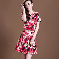 2014  European And American High-end Printing Geometric Elegance Women's Sets