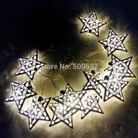 Moroccan-Style String Lights  LOVE BALL HEART 12 Balls/Set Creamy white Cotton Balls Lighting Strings Christmas,Wedding Solar