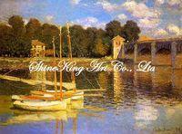 handpainted  impressionist oil painting reproduction art of famous artist Monet  Monet1030 50x60cm