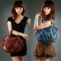 2014 High-quality shoulder bag fashion canvas+leather women's bags vintage handbags women messenger bags desigual totes bag