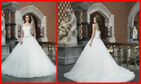 Wholesale Cheap Price Free Shipping 2014 Sexy Sweetheart Backless Ball Gown Long Tulle Beads Sashes Formal Wedding Dress Gown
