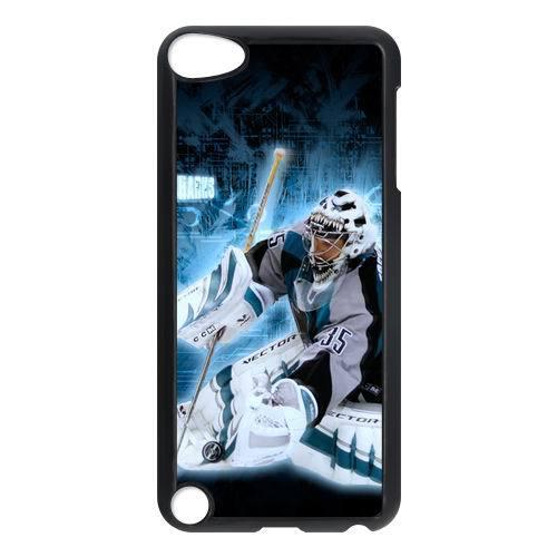 Personalize Designer Case Vesa Toskala San Jose Sharks Printed Hard Plastic case Snap-on cover for ipod Touch 5 -(NHL)23(China (Mainland))