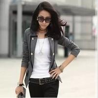 2013 autumn new OL commuter Slim Korean Girls long coat small suit small suit 2466