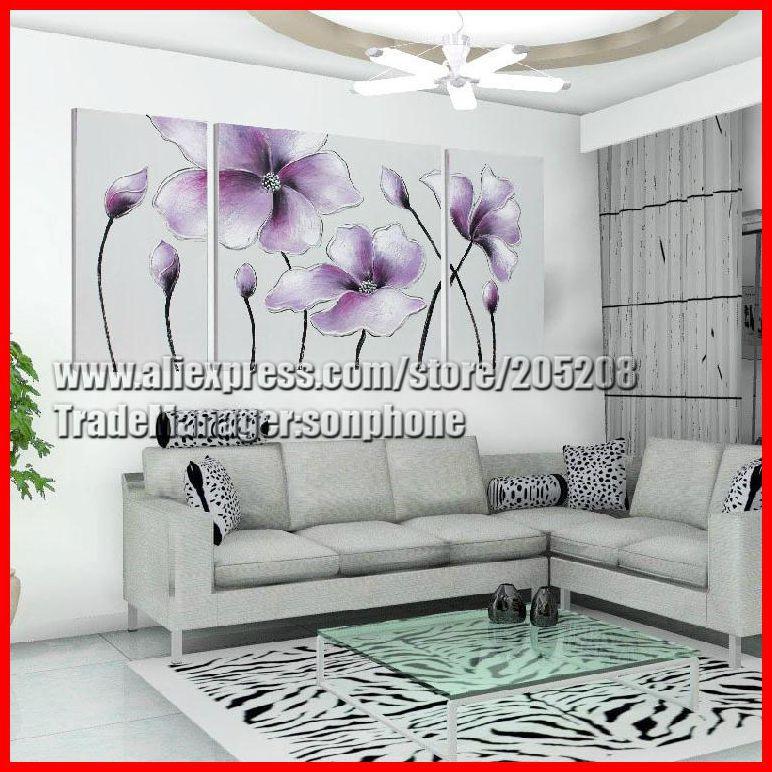 Emoldurado 3 Painel Grande Poppy Início da pintura da flor da arte da lona Imagem Wall Decor Quadro de Parede XD02440(Hong Kong)