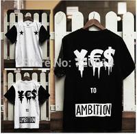 Men's t shirt summer 2014 fashion brand tshirt tee clothing casual hip-hop plus size Pentagram street Spoof T-shirt lovers