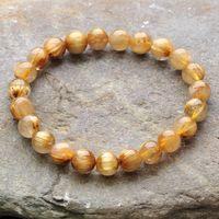 Free shipping ! Titanium crystal bracelet 100% pure natural crystal, 8-9MM, transparent, high-quality, female bracelet