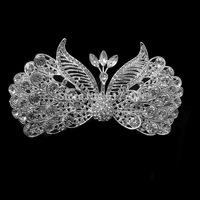 Factory Price Luxurious Peacock Crystal Tiara Bridal Hair Accessories Crown Wedding Hair jewelry  Wedding Accessories HG2013