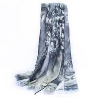 Ordibugati mulberry silk scarf pure silk scarf silk spring and autumn Women quality long cape