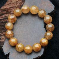 Men's Titanium crystal bracelet 100% pure natural crystal,14MM,21CM transparent, high-quality,  Free shipping !