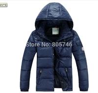 free shipping 2014 brand winter 90% white duck  down jacket  warm Down Parkas  jacket coat men PLUS SIZE M -2XL5 COLOR