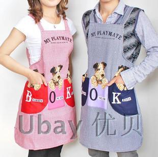 Kitchen sleeveless puppy figure apron adult Korean fashion wholesale water pollution dog cleanig apron(China (Mainland))
