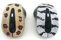 2014 Hot Free shipping(10pcs/lot) wholesale Fashion rhinestone wireless mouse for pc