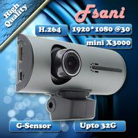 mini X3000 Full Hd 1920x1080p Car DVR High Quality Recorder Stable and Durable  Camera Video Recorder Black Box Free Shipping