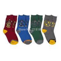 Harry Potter cotton short sock Costume Gryffindor Slytherin Hufflepuff Ravenclaw